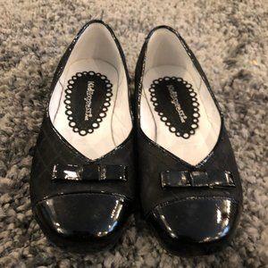 Girls Kid Express Black Diamond-Patterned Flats